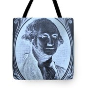 George Washington In Negative Cyan Tote Bag