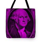 George Washington In Purple Tote Bag
