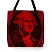 George Washington In Red Tote Bag