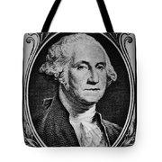George Washington In White Tote Bag