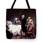 George Washington On His Death Bed Tote Bag