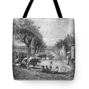 Georgia: Black Village Tote Bag