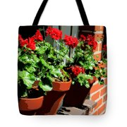 Geraniums In Germany Tote Bag by Carol Groenen