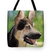 German Shepard Puppy Tote Bag