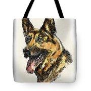 German-shepherd-portrait Tote Bag