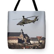 German Tiger Eurocopter Flying Tote Bag
