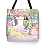 Getting Ready To Scare Tote Bag
