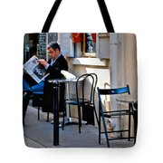 Getting The Morning News Tote Bag