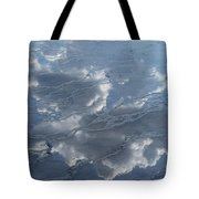 Geyser Basin Cloud Reflection Tote Bag