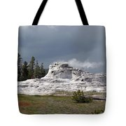 Geyser In Yellowstone Tote Bag