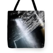 Geysers Of Enceladus Showing Tote Bag by Brian Christensen