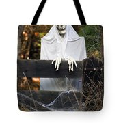 Ghost At The Gate Tote Bag