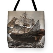 Ghost Ship Of The Cape Tote Bag by Lourry Legarde