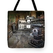 Ghost Town Stove Storage - Montana State Tote Bag