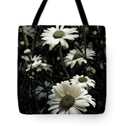 Ghostly Daisies Tote Bag