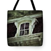 Ghostly Girl In Upstairs Window Tote Bag by Jill Battaglia