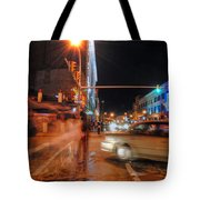 Ghostly Halloween Party Goers On Chippewa Tote Bag