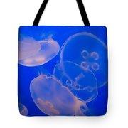 Ghostly Jellyfish Tote Bag