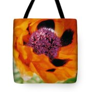 Giant Orange Poppy Tote Bag
