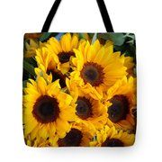 Giant Sunflowers For Sale In The Swiss City Of Lucerne Tote Bag