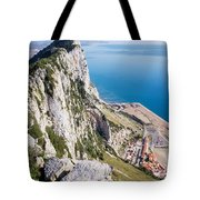 Gibraltar Rock And Mediterranean Sea Tote Bag