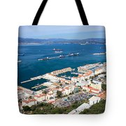 Gibraltar Town And Bay Tote Bag