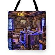 Gillette Castle Office Hdr Tote Bag by Susan Candelario