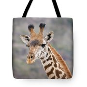 Giraffe Close-up Tote Bag