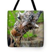 Giraffe Eating Tote Bag