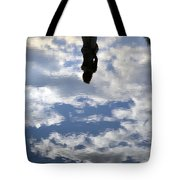 Girl And The Sky Tote Bag