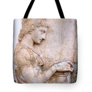 Girl Holding Chest Tote Bag