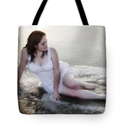 Girl In The Surf Tote Bag