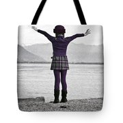Girl On The Shores Of Lake Maggiore Tote Bag