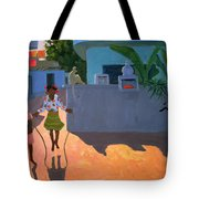 Girl Skipping Tote Bag