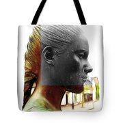 Girl Statue Tote Bag