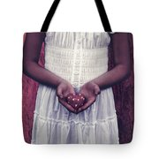 Girl With A Heart Tote Bag