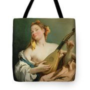 Girl With A Mandolin Tote Bag