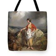 Girl With A Pitcher Tote Bag by PF Poole
