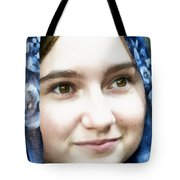 Girl With A Rose Veil 4 Illustration Tote Bag
