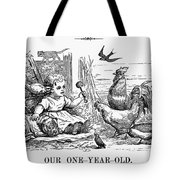 Girl With Birds, 1873 Tote Bag