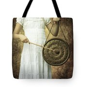 Girl With Gong Tote Bag