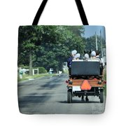 Girls And Chauffeur Tote Bag