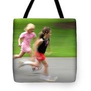 Girls Running Tote Bag