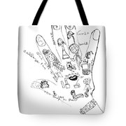 Girl's World Drawing Raw Sketch Tote Bag