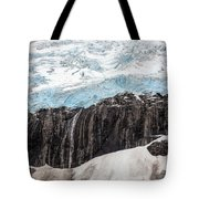 Glacial Edge Waterfall Tote Bag
