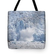 Glacial Ice Calving Into The Water Tote Bag