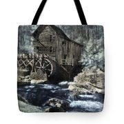 Glade Creek Mill In Infrared. Tote Bag