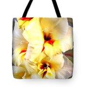 Gladiolus Mirage Tote Bag