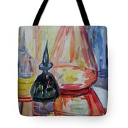 Glass Bottles Still Life Tote Bag