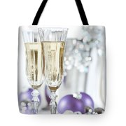 Glasses Of Champagne Tote Bag by Amanda Elwell